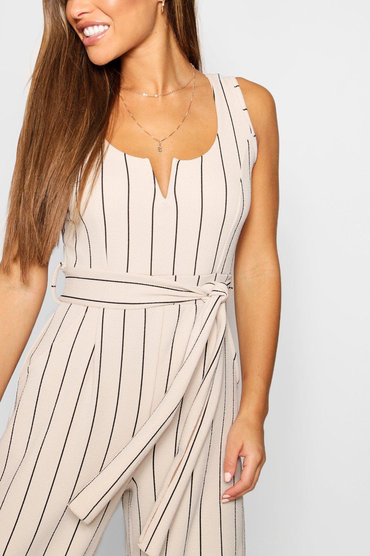 Petite Striped Striped Jumpsuit Culotte Petite nude dExZq7