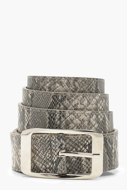 Plus Snake Print Boyfriend Belt