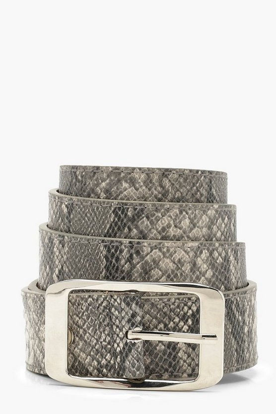 Plus Snake Print Boyfriend Belt
