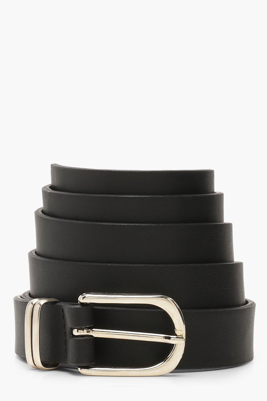 Plus Silver Buckle Detail Boyfriend Belt