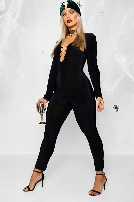 Plus Ring Front Halloween Unitard