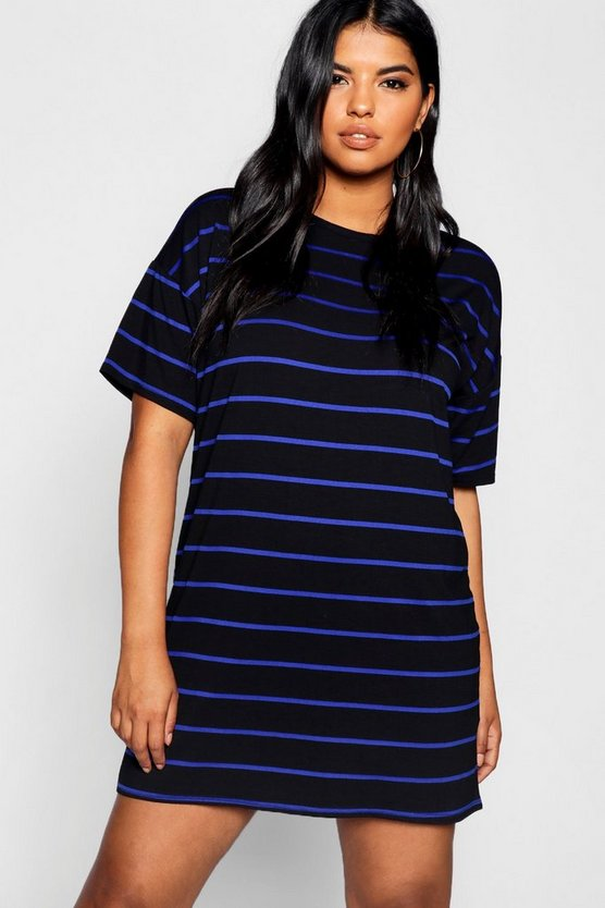 Plus Striped T-Shirt Dress