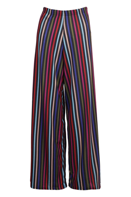 black Stripped Trouser Wide Leg Petite FqRwX6w7