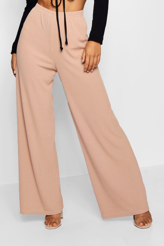 Leg Ribbed Wide wine Petite Trouser Eqwx0P1UT