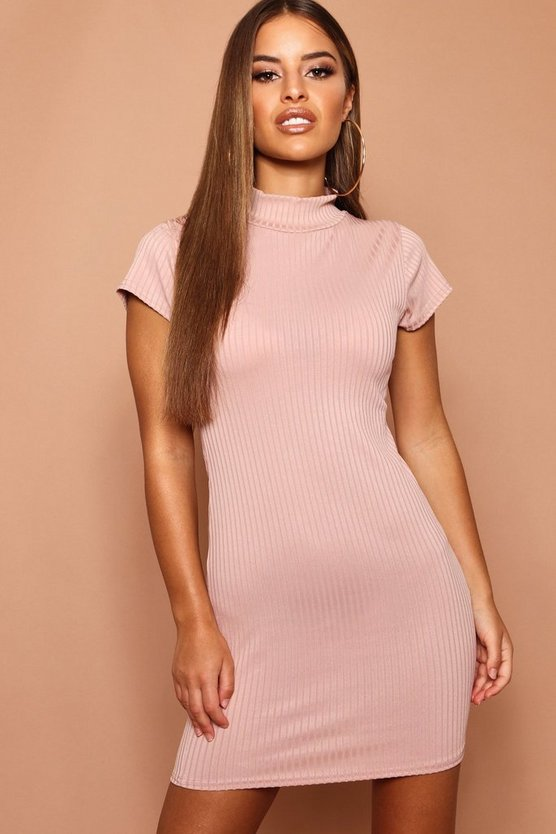 Petite High Neck Bodycon Dress