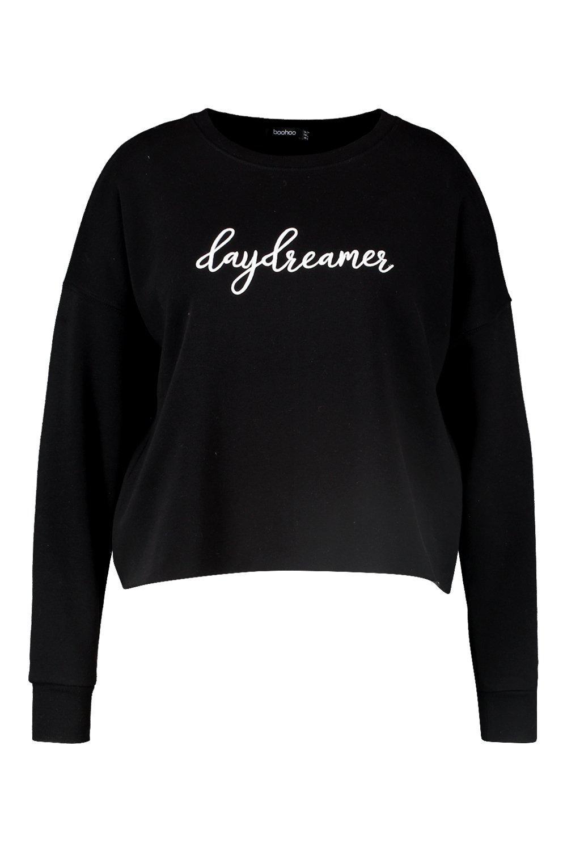 black Daydreamer Plus Plus Daydreamer Slogan Sweat Bq0xpg