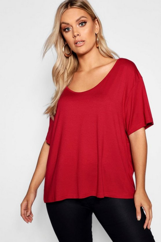 Plus Super Soft Oversized Basic T-Shirt