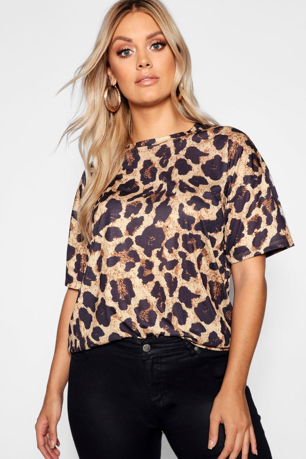 19d7b5e3b1 ... Leopard Print Oversized T-Shirt. Hover to zoom