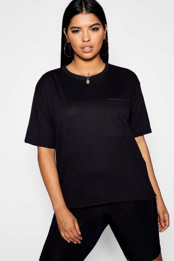 Plus Basic One Pocket T-Shirt