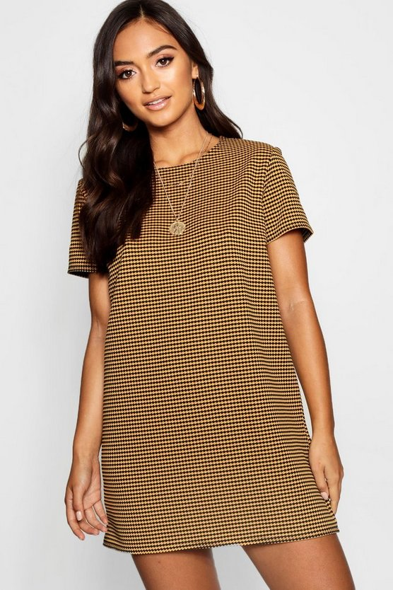 Petite Jacquard T-Shirt Dress