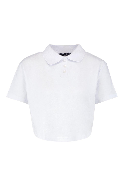 corto blanco polo Petite estilo Camisa 7EvUwaqp7