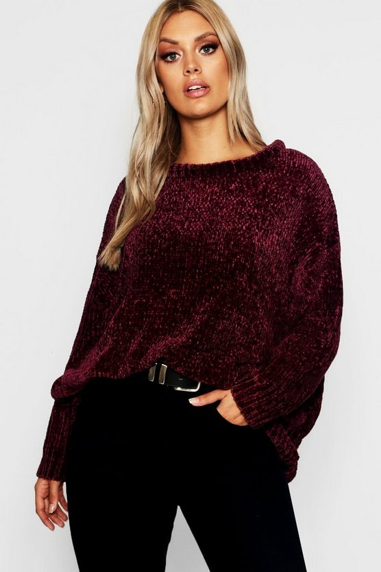 Plus Oversized Soft Chenille Jumper