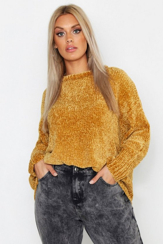 Plus Oversized Soft Chenille Sweater