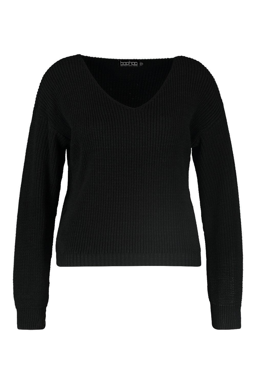 ancho negro con en cuello Plus V Jersey Od0ZqwO