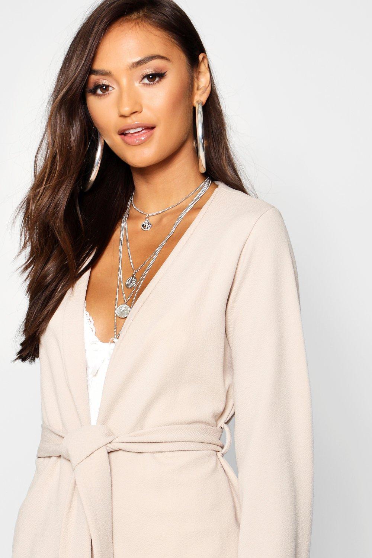 Sleeve Belted Kimono mustard Blazer Petite wPqYxF5F