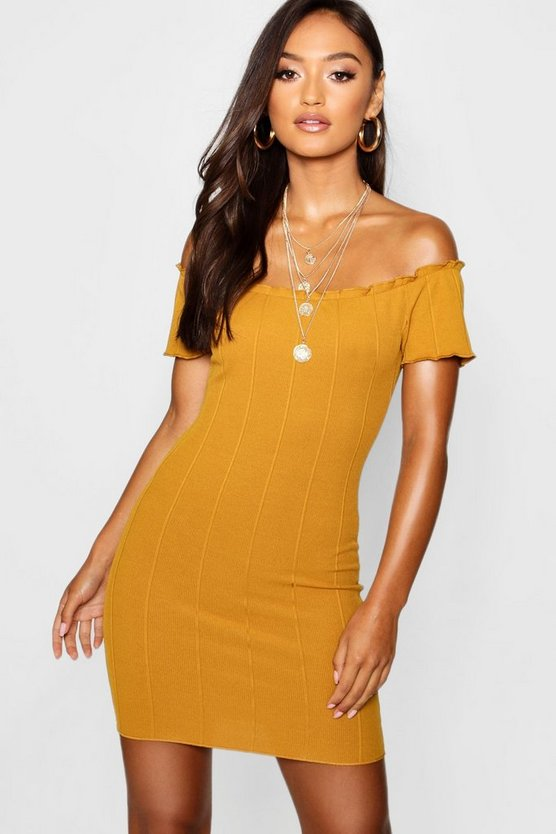 Petite Bardot Bandage Bodycon Dress