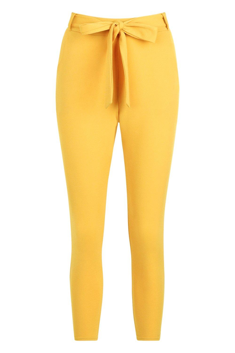Waist Petite mustard Tie Trouser Tapered pSY1qS