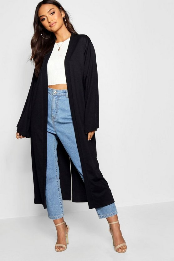 Petite Long Line Split Back Duster