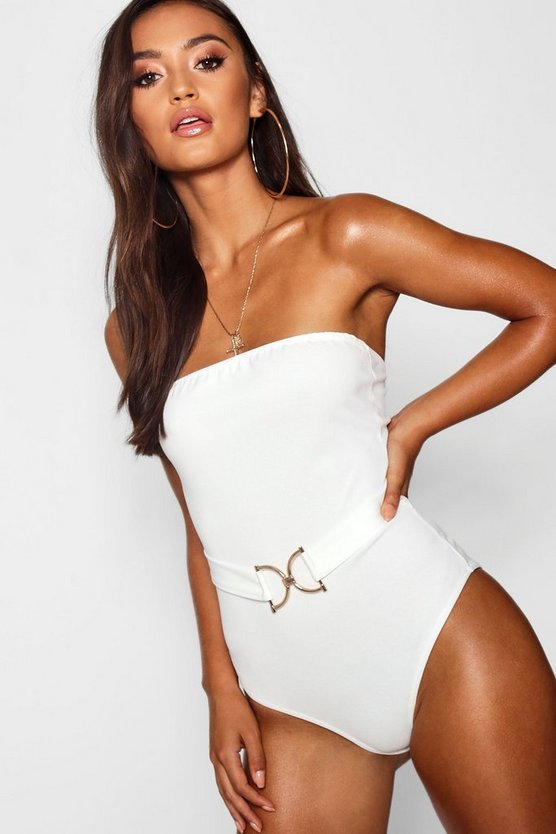 Petite Rose Gold D-Ring Bandeau Bodysuit