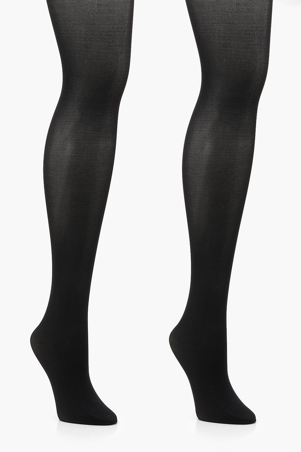 cb00149ebed78 Womens Black Plus 2 Pack 40 Denier Opaque Tights