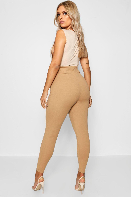 Plus Leggings estilizan que alta con cintura caqui rqA80AXwf