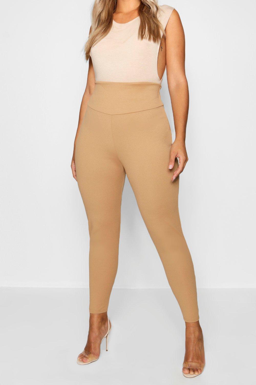 Leggings alta caqui cintura que Plus estilizan con FwHr8Fq