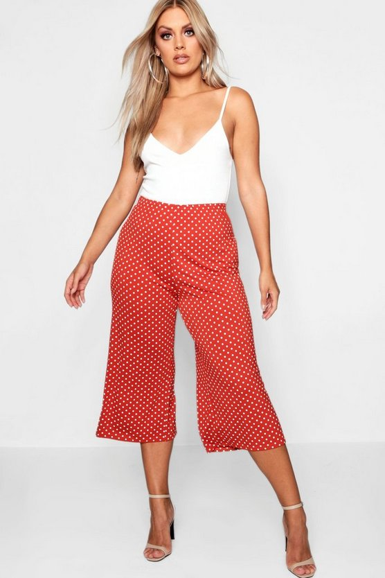 Plus Polka Dot Culotte