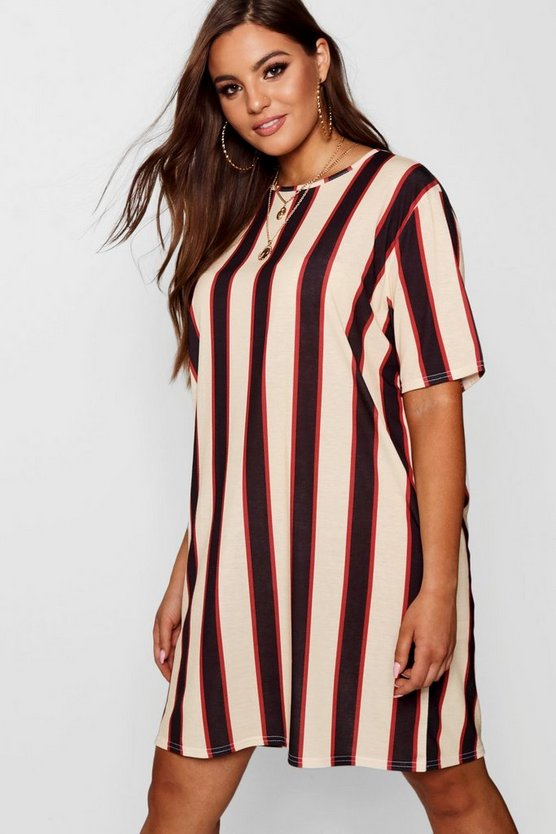 Plus Stripe T-Shirt Dress