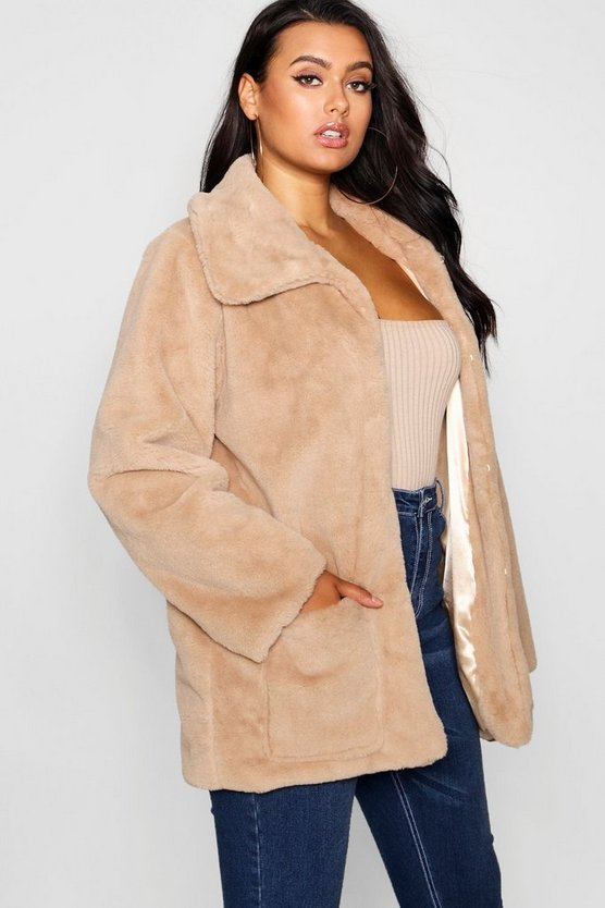 Plus Supersoft Faux Fur Pocket Jacket
