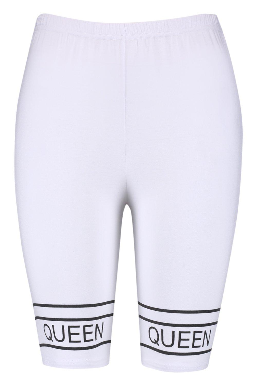 "de ""Queen estampado ciclista con Shorts AwYRdxR"