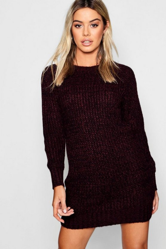 Petite Soft Mal Knit Jumper Dress