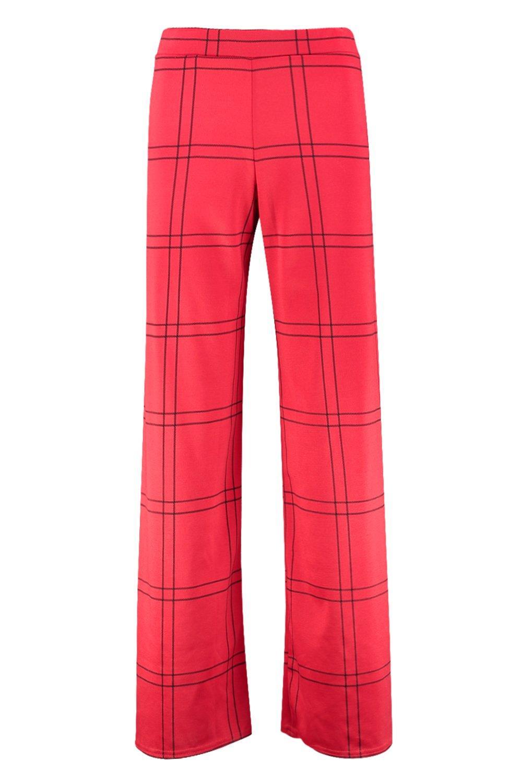 a larga gamba quadretti Pantaloni a Petite vHwtfpqSE