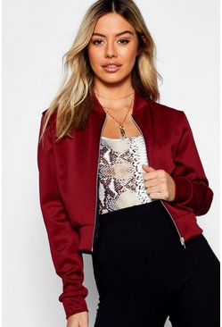 4aa54484d Petite Cropped Bomber Jacket