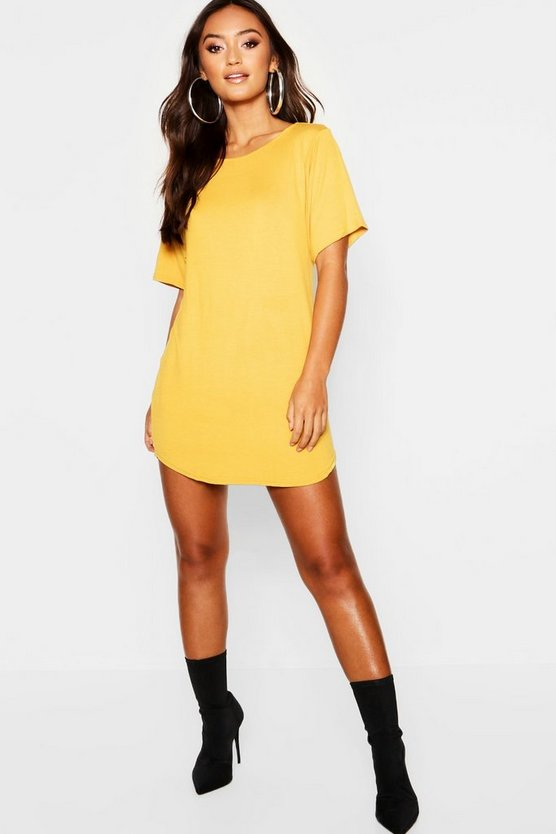 Petite Curved Hem T-Shirt Dress