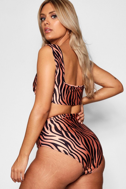 con Plus di stampa Bikini tigre 4px0qXq1
