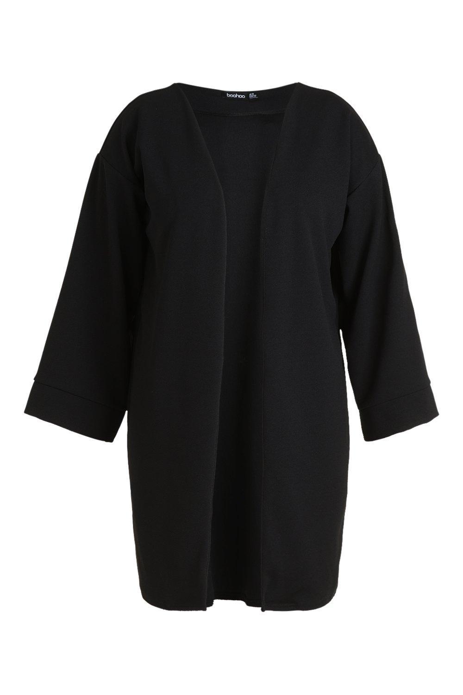 manga Plus kimono Guardapolvo con negro HXqfn5xSwz