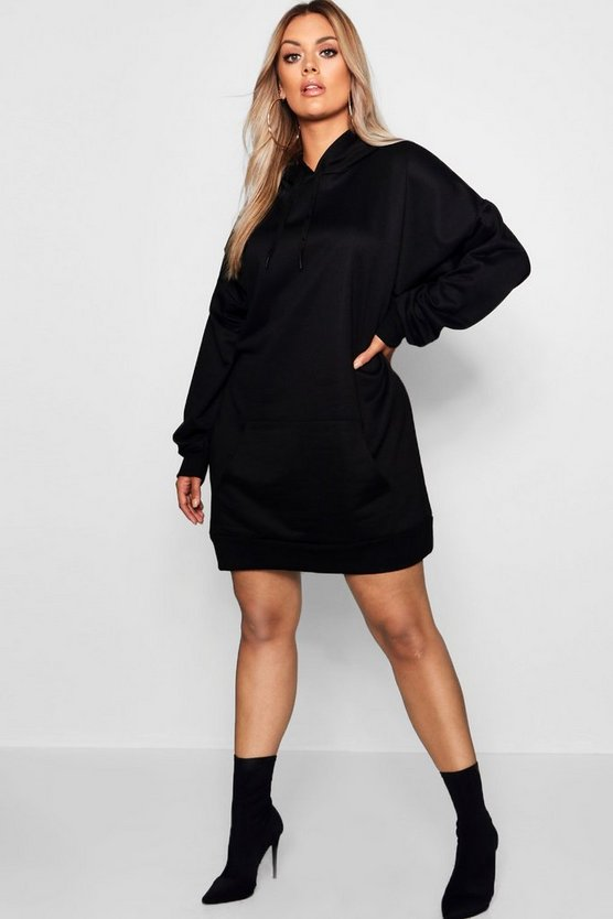 Plus Oversized Hooded Sweat Dress
