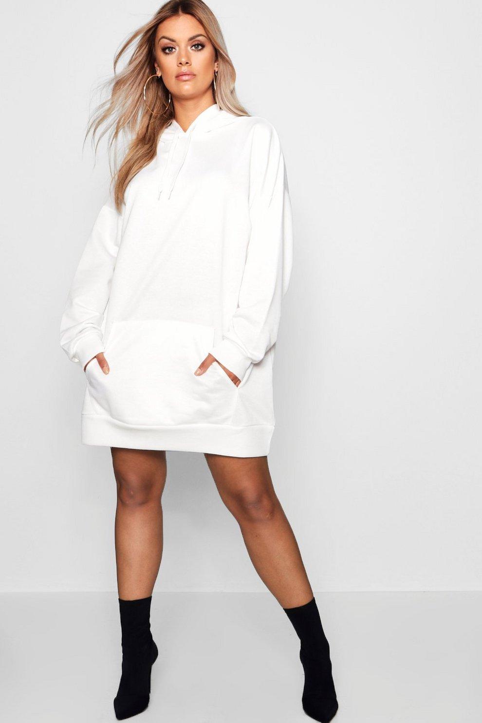 0ded8cdf2c82 Plus Oversized Hooded Sweat Dress   Boohoo