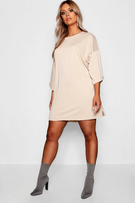 Plus Oversized Sweat Dress