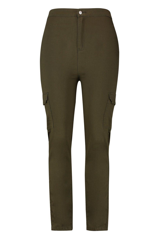 estilo bolsillo con caqui Jeans utility Plus tubo tqw45CEU