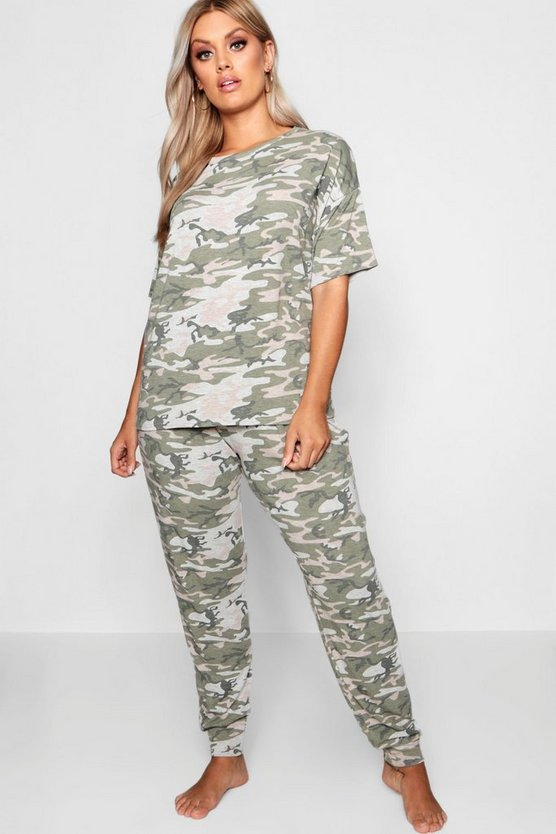 Plus Camo Lounge Set