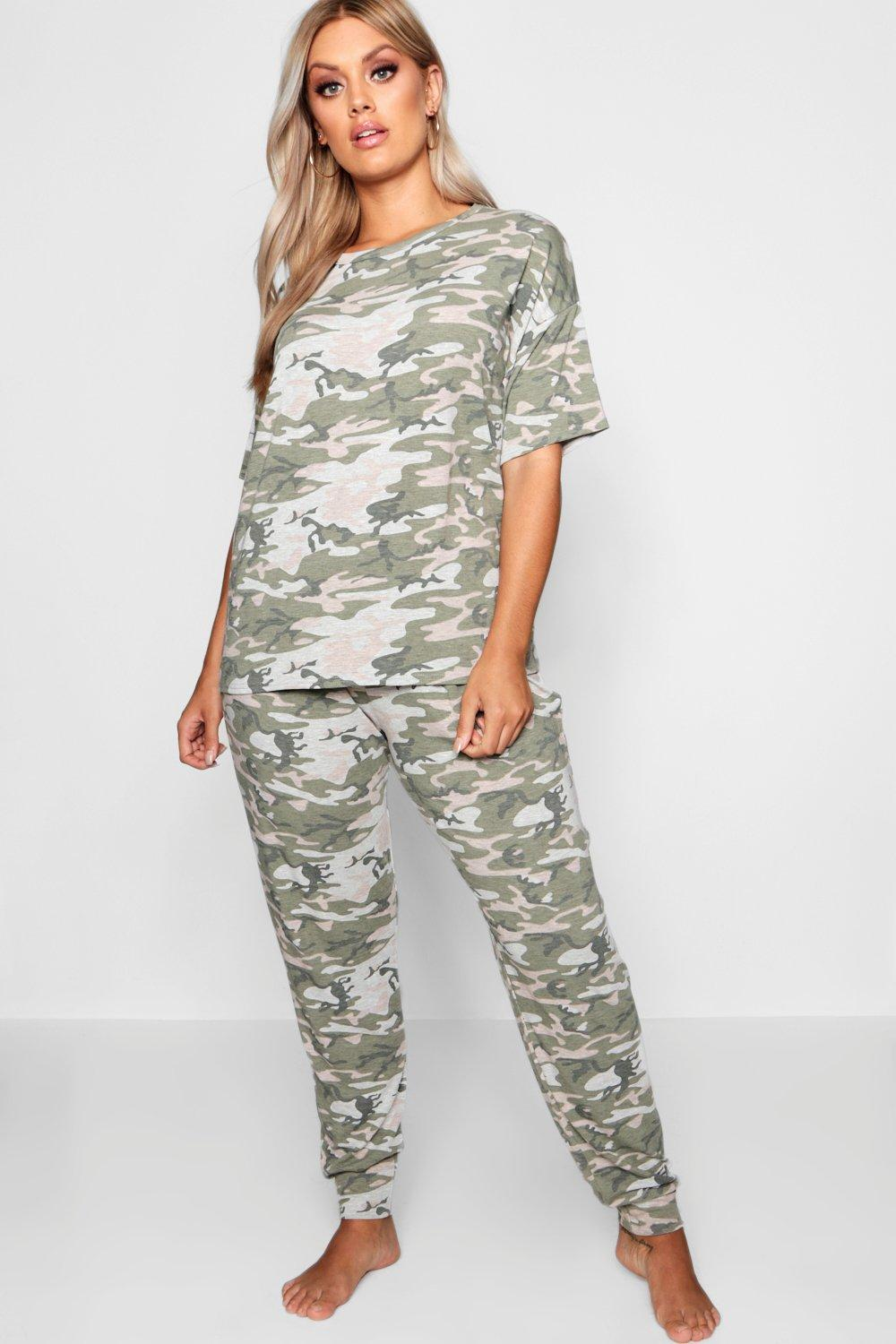 Camouflage Lounge Set Tracksuits & Sets