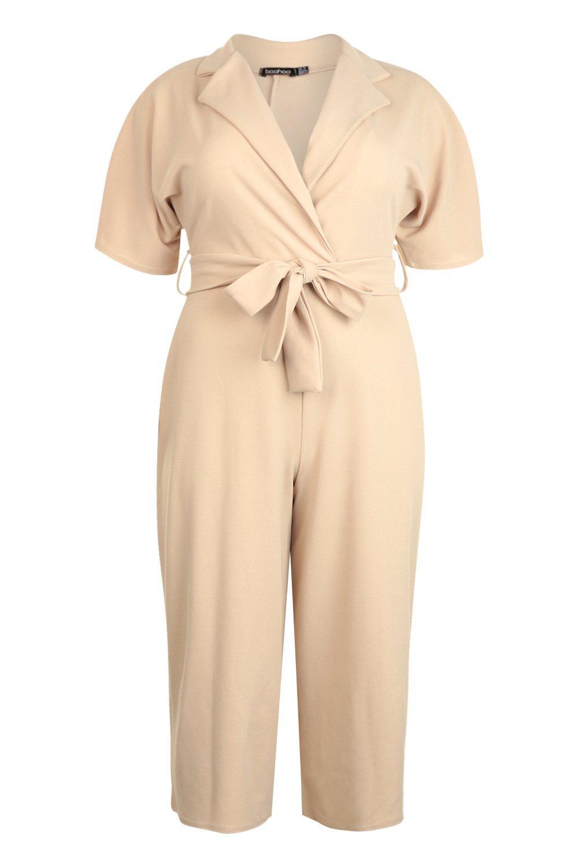 8dfa6a91646 Boohoo Womens Plus Utility Culotte Jumpsuit