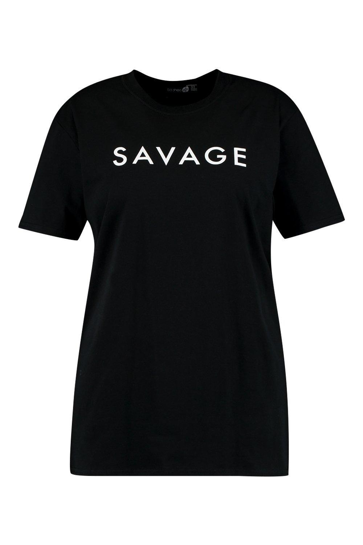 """Camiseta Camiseta """"Savage con eslogan con """"Savage eslogan Camiseta Aq4vIR"""