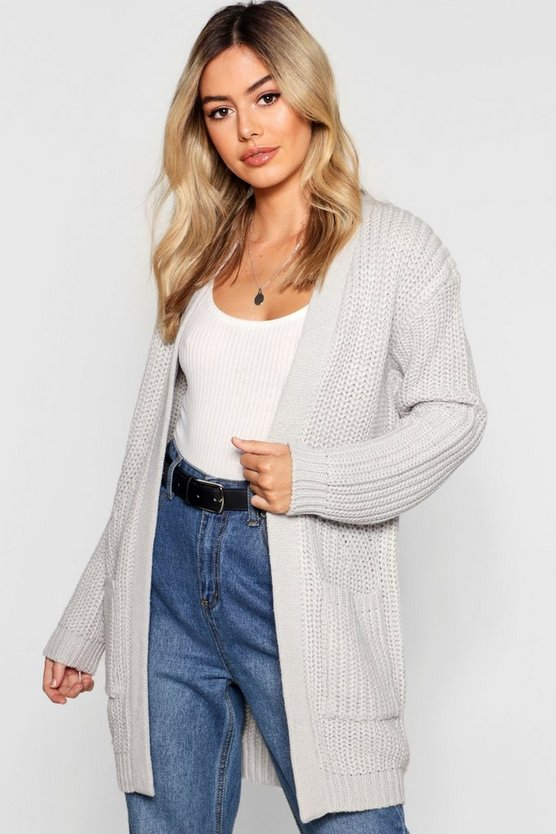 Petite Chunky Knitted Cardigan