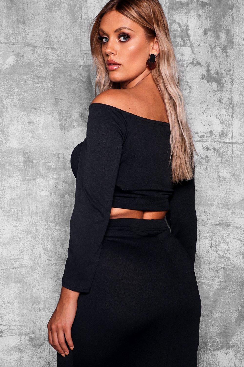 Plus Shoulder Top Off Wrap black zrqpw5z48