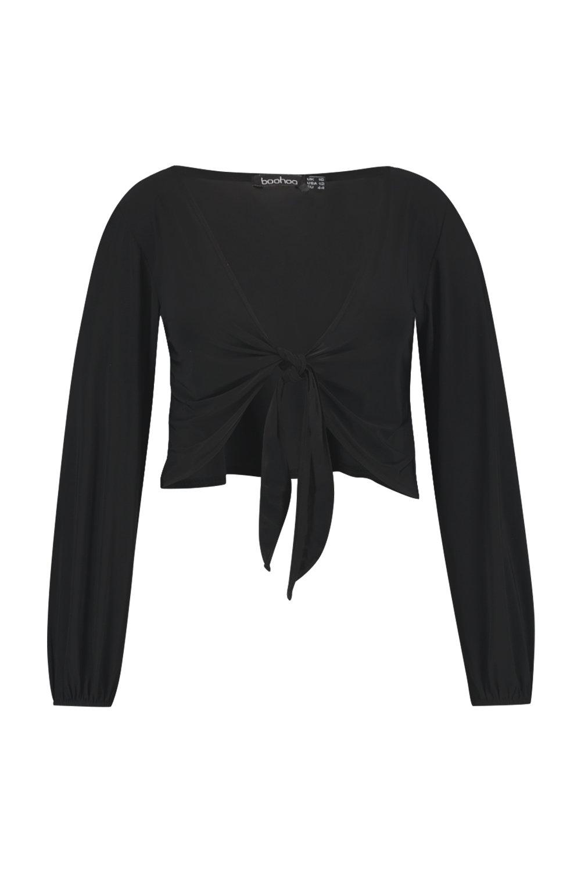 Slinky Tie black Front Top Plus qzFSAx