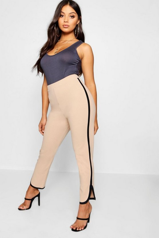 Petite Sports Binding Tapered Trouser
