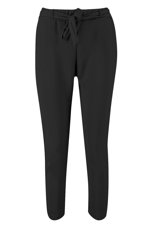 Tie Petite Waist Tapered Trouser black w88vaq4nd