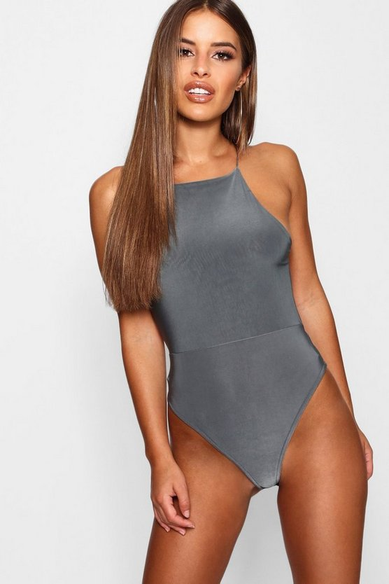 Petite Slinky Cross Back Bodysuit